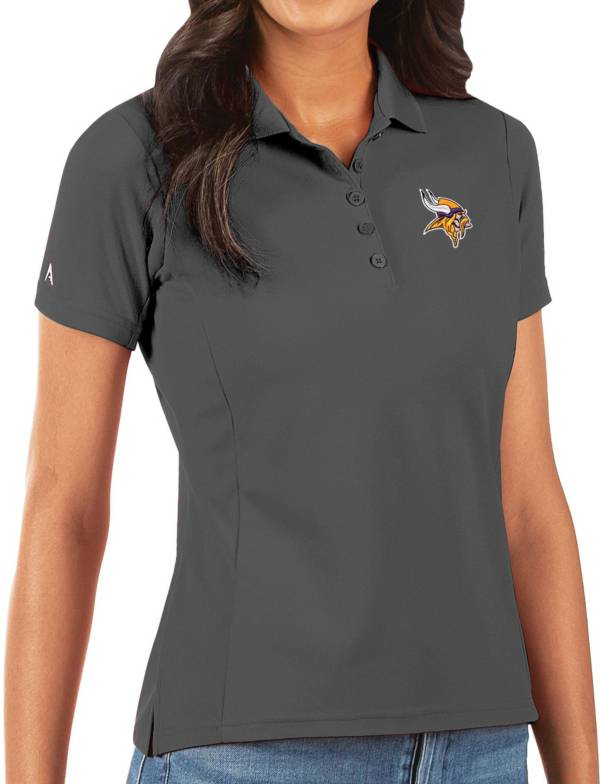 Antigua Women's Minnesota Vikings Grey Legacy Pique Polo product image
