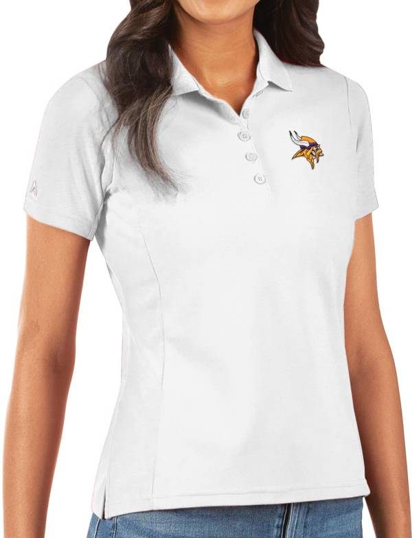 Antigua Women's Minnesota Vikings White Legacy Pique Polo product image
