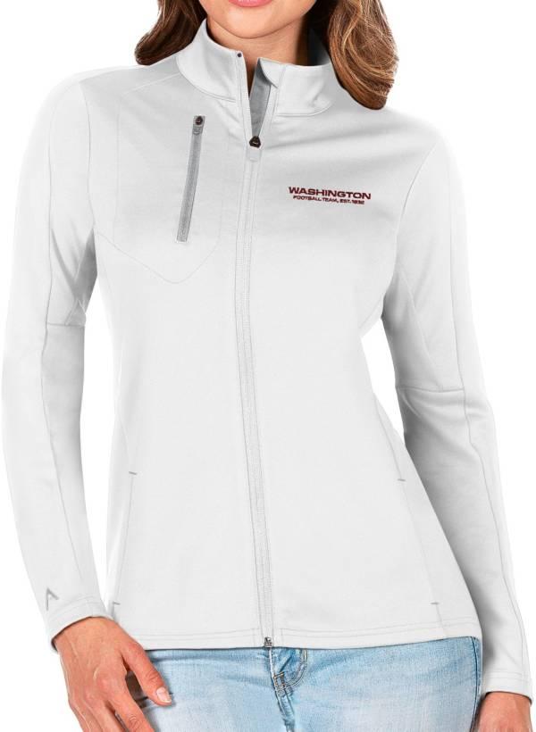 Antigua Women's Washington Football Team White Generation Full-Zip Jacket product image