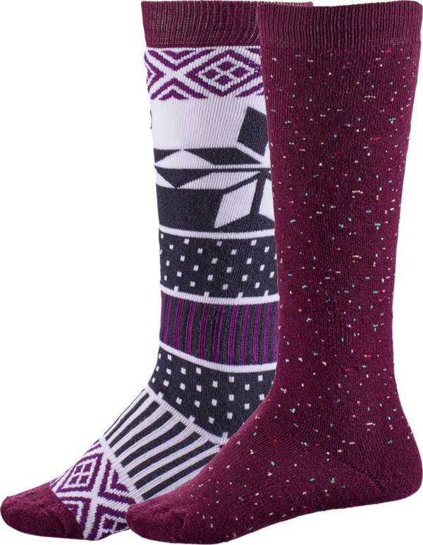Alpine Design Girls' Snow Sport Socks - 2 Pack product image
