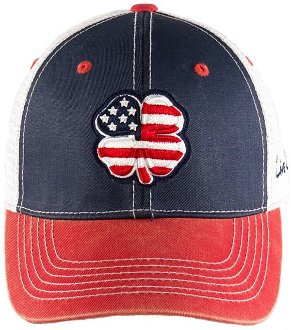 Black Clover Men's USA Flag Two-Tone Vintage Golf Hat product image