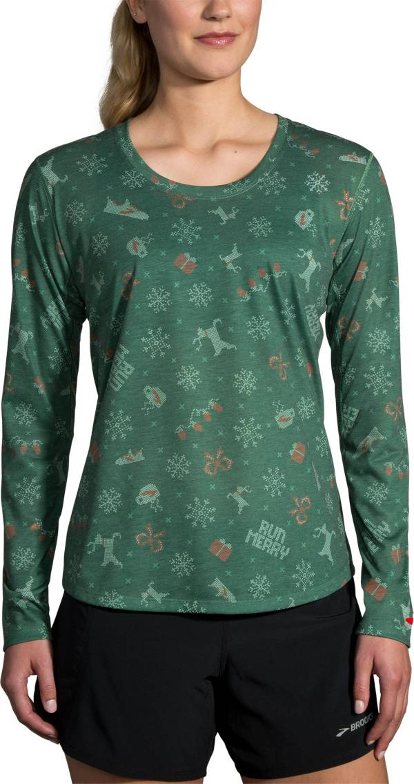 Brooks Women's Run Merry Distance Graphic Long Sleeve Running Shirt product image