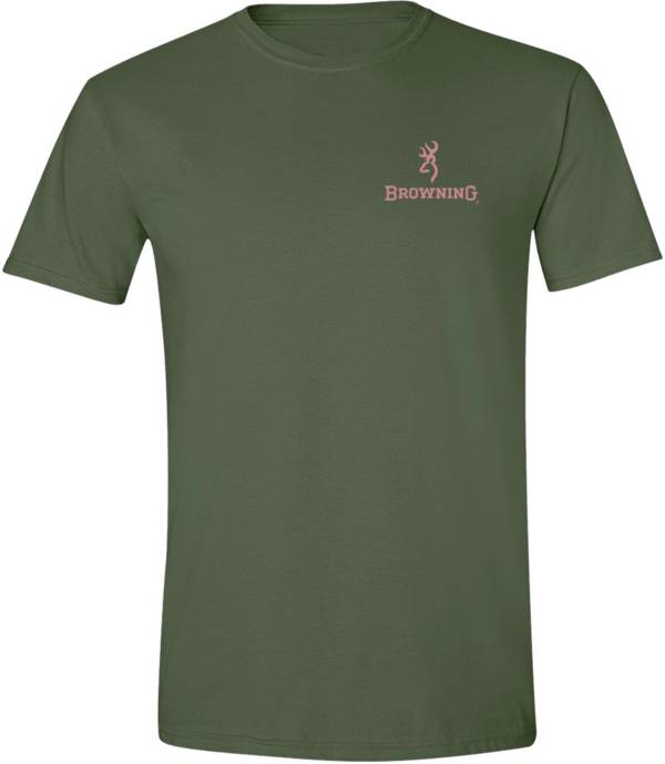 Browning Women's Rose Gold Foil Rifle Flag Short Sleeve T-Shirt product image