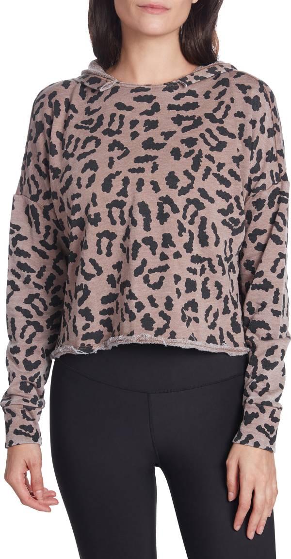 Betsey Johnson Women's Cheetah Print Cropped Hoodie product image