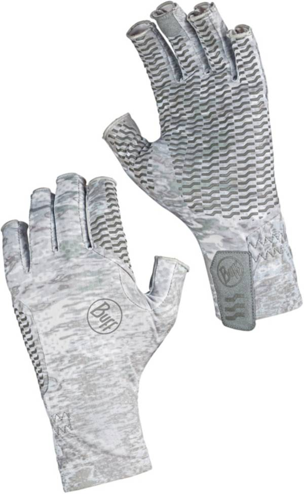 Buff Aqua Camo White Fishing Gloves product image