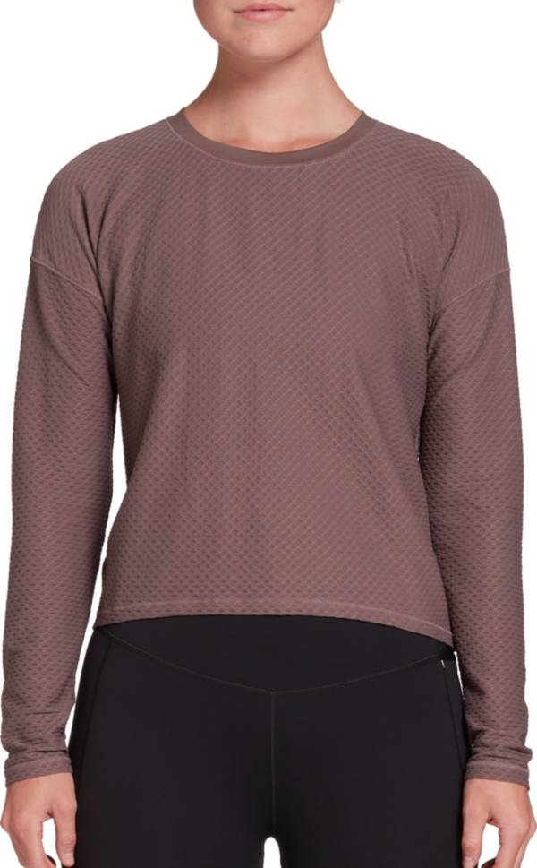 CALIA by Carrie Underwood Women's Diamond Mesh Long Sleeve Shirt (Regular and Plus) product image