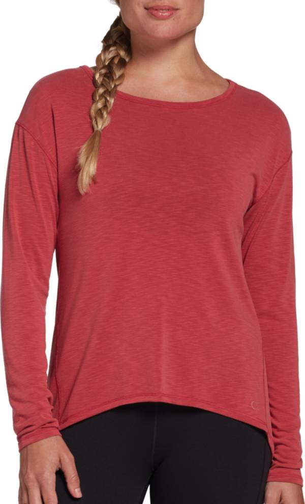 CALIA by Carrie Underwood Women's Drape Back Long Sleeve Shirt (Regular and Plus) product image