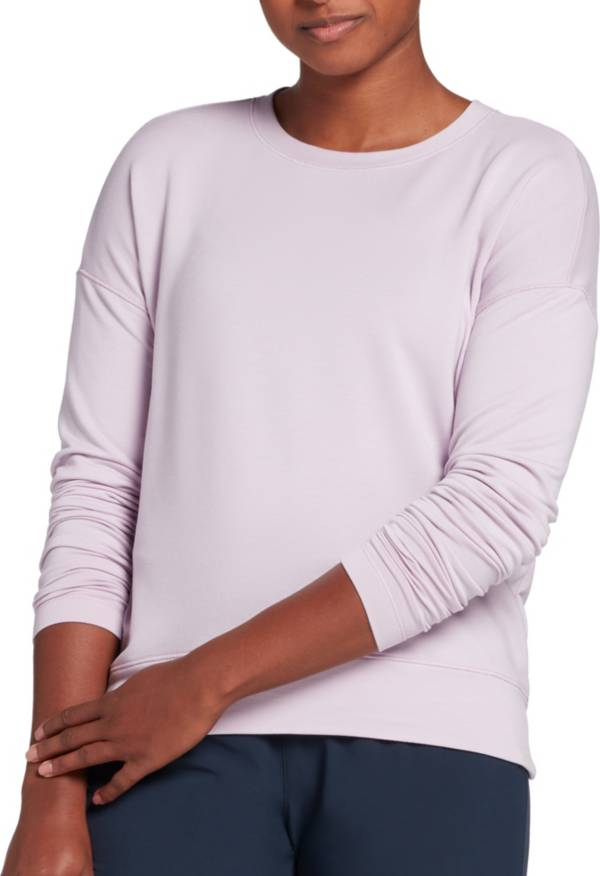 CALIA by Carrie Underwood Women's Lightweight French Terry Long Sleeve Shirt (Regula and Plus) product image