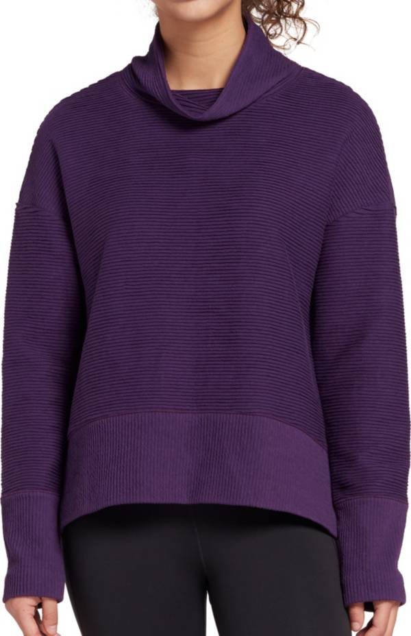 CALIA by Carrie Underwood Women's Rib Mock Neck Sweatshirt product image