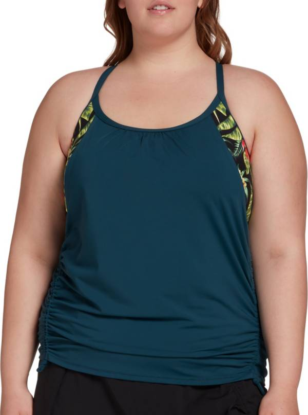 CALIA by Carrie Underwood Women's Plus Size Ruched Tankini Top product image