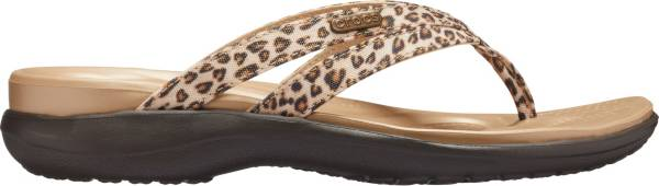 Crocs Women's Capri Leopard Print Strappy Flip Flops product image