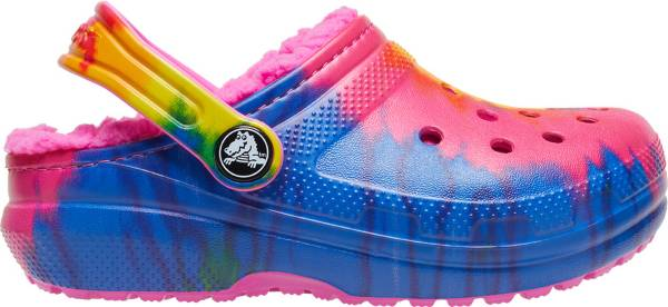 Crocs Kids' Classic Tie Dye Lined Clogs product image