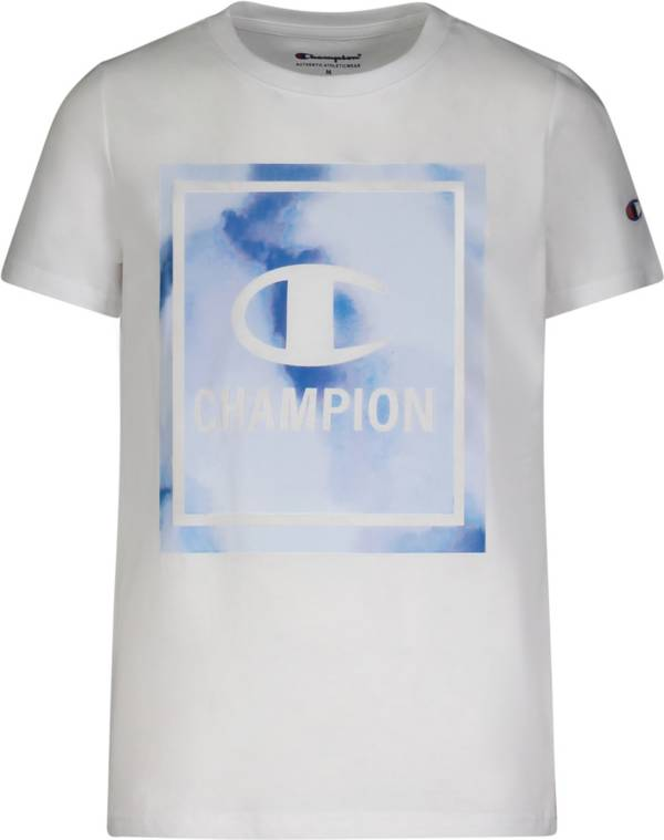Champion Boys' Framed C Water Color Short Sleeve T-Shirt product image