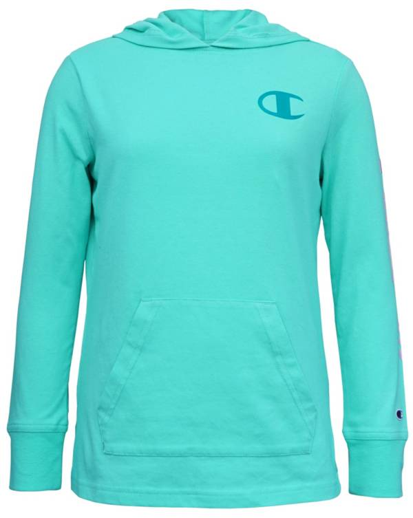 Champion Girls' Jersey Hooded Long Sleeve Shirt product image
