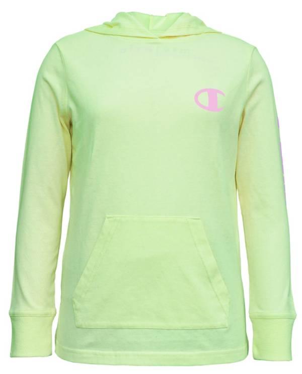 Champion Girls' Jersey Hooded Long Sleeve Shirt product image