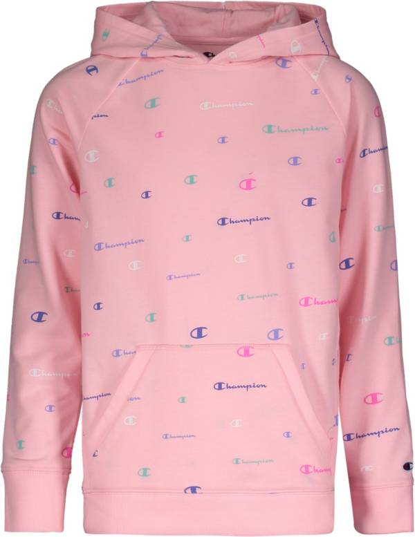 Champion Girls' Multicolor Logo French Terry Hoodie product image