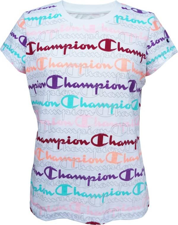 Champion Girls' Layered Print Script T-Shirt product image