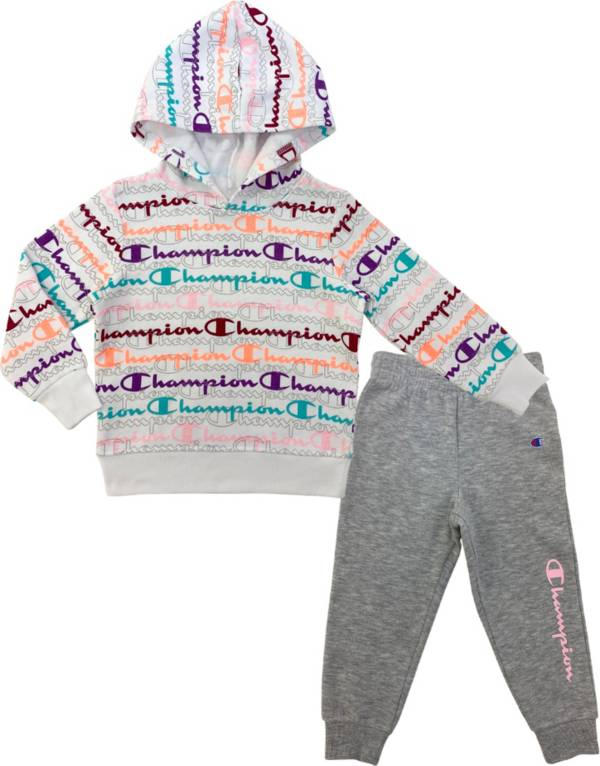 Champion Girls' AOP Script Fleece Hoodie and Joggers Set product image