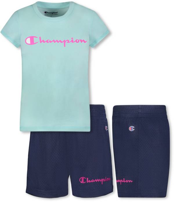 Champion Girls' Script T-Shirt and Mesh Shorts Set product image