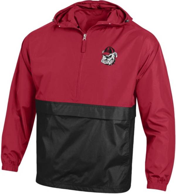 Champion Men's Georgia Bulldogs Packable Quarter-Zip Black Jacket product image