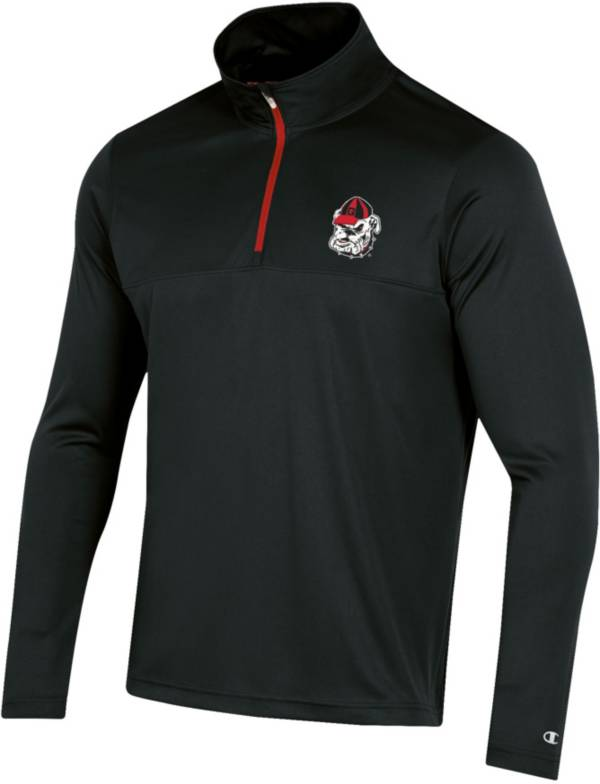 Champion Men's Georgia Bulldogs Quarter-Zip Performance Black Shirt product image