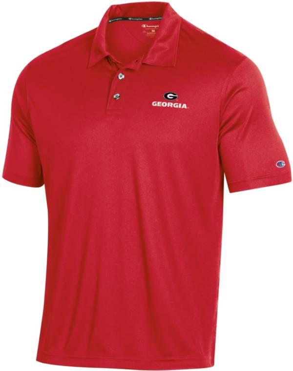 Champion Men's Georgia Bulldogs Red Performance Polo product image