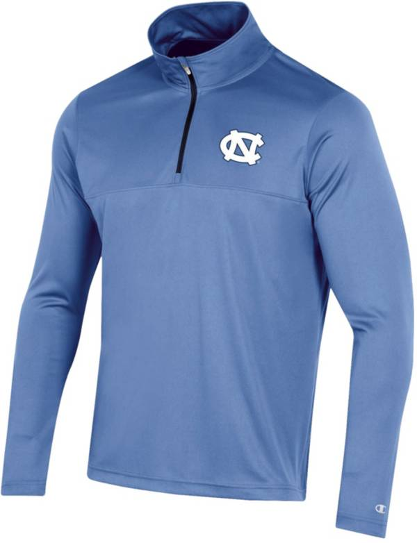 Champion Men's North Carolina Tar Heels Quarter-Zip Performance Carolina Blue Shirt product image