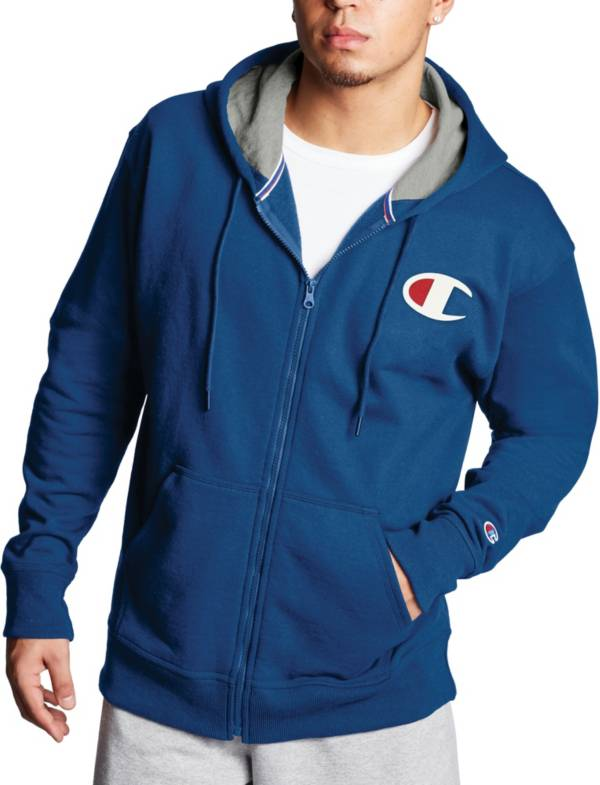 Champion Men's Powerblend Graphic Full Zip Hoodie product image
