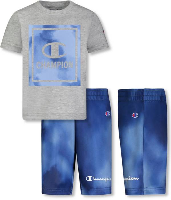 Champion Little Boys' Block Graphic T-Shirt and Shorts Set product image