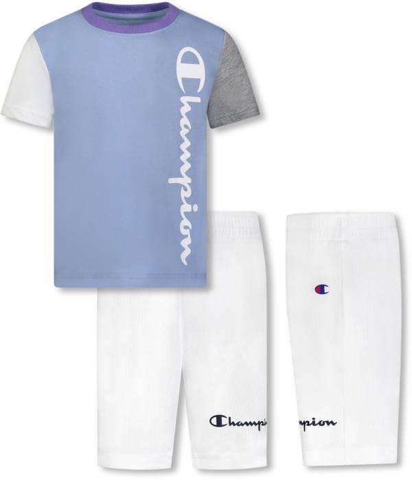Champion Little Boys' Colorblock Vertical Script T-Shirt and Shorts Set product image