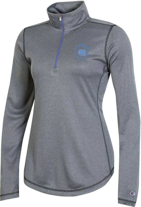 Champion Women's North Carolina Tar Heels Grey Quarter-Zip Performance Shirt product image