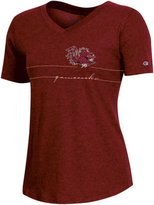 Champion Women's South Carolina Gamecocks Garnet V-Neck T-Shirt product image