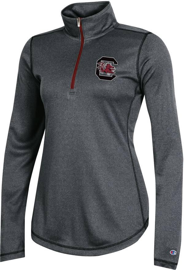 Champion Women's South Carolina Gamecocks Grey Quarter-Zip Performance Shirt product image