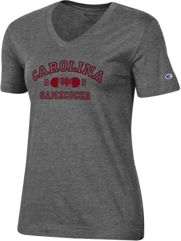 Champion Women's South Carolina Gamecocks Grey University V-Neck T-Shirt product image