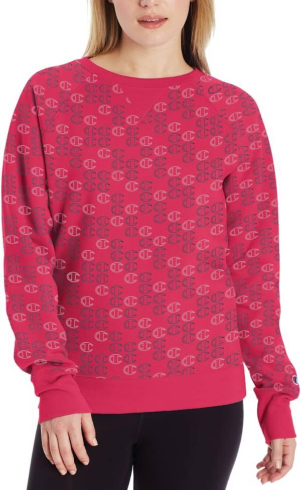 Champion Women's Powerblend Print Mini C Crew Pullover product image