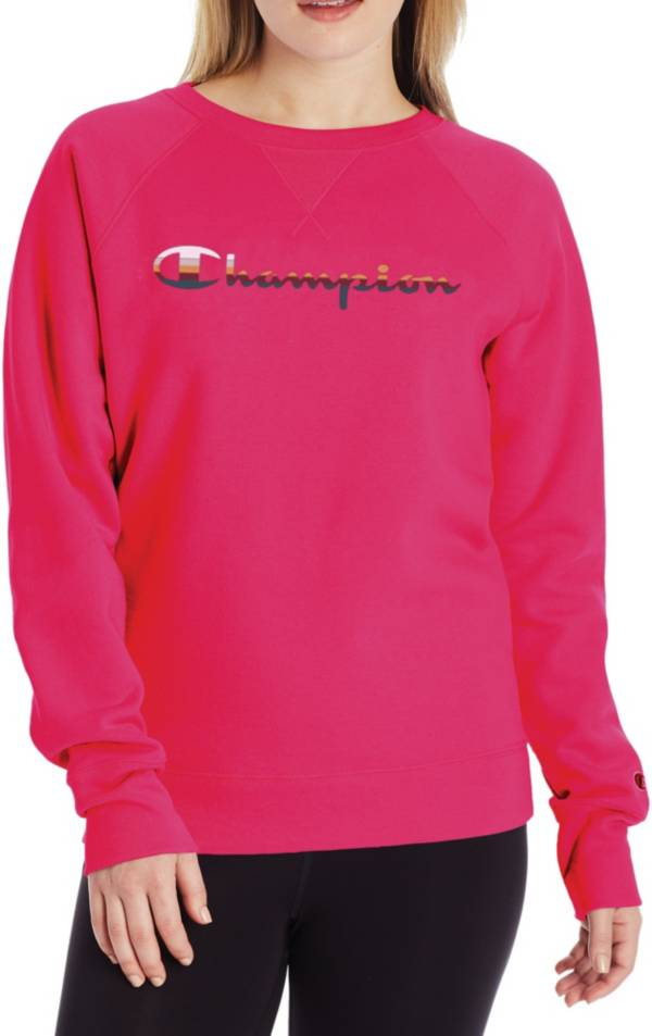 Champion Women's Powerblend Graphic Crew Pullover product image