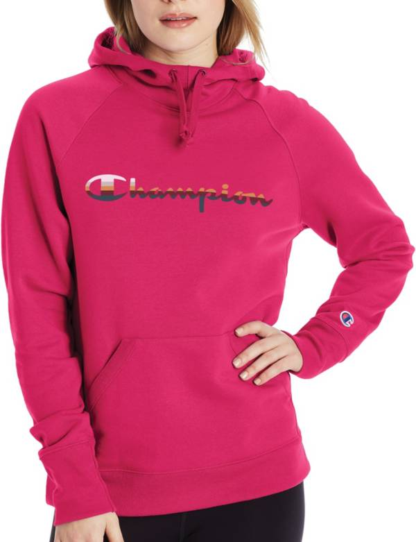 Champion Women's Powerblend Script Stripe Graphic Hoodie product image
