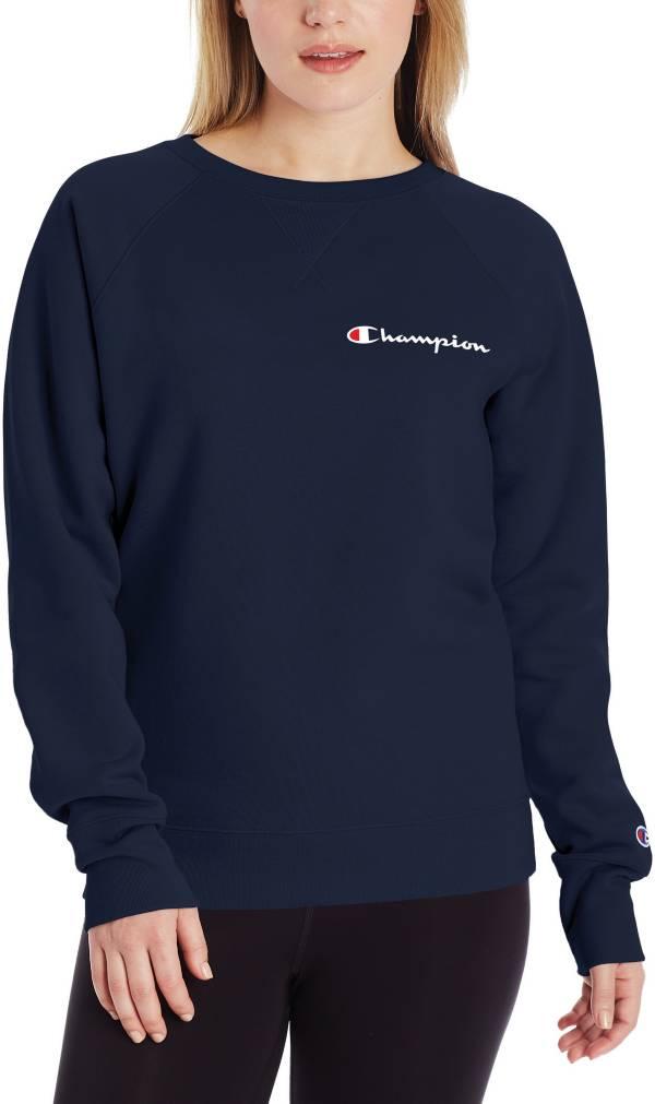 Champion Women's Powerblend Left Chest Logo Crew Sweatshirt product image