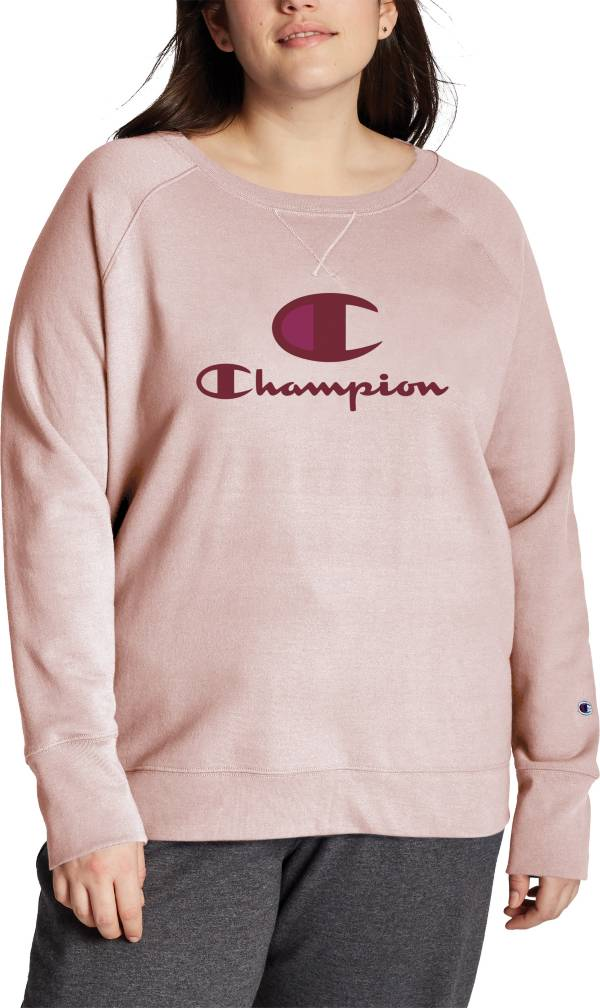 Champion Women's Plus Size Powerblend Graphic Crew Pullover product image