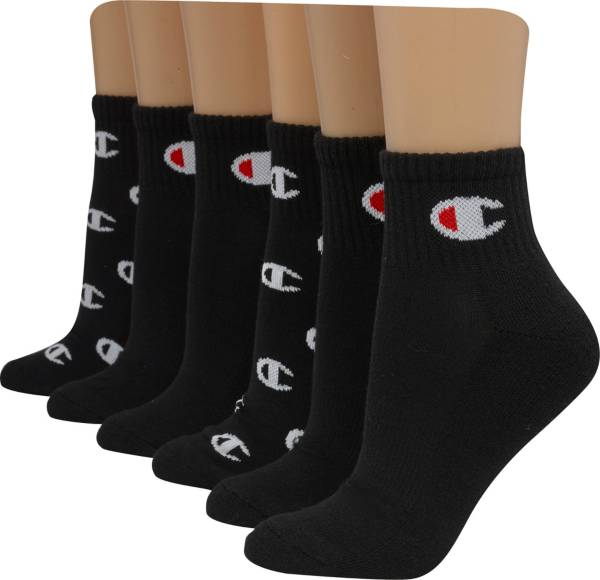 Champion Women's Ankle C Logo Print Socks 6-Pack product image