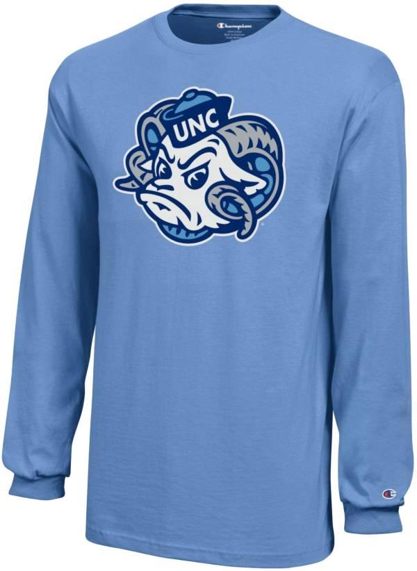 Champion Youth North Carolina Tar Heels Carolina Blue Long Sleeve Jersey T-Shirt product image