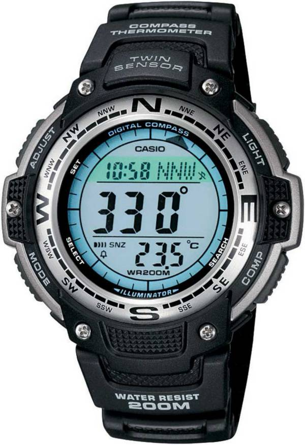 Casio Dual Time Compass Thermometer Tracker Watch product image