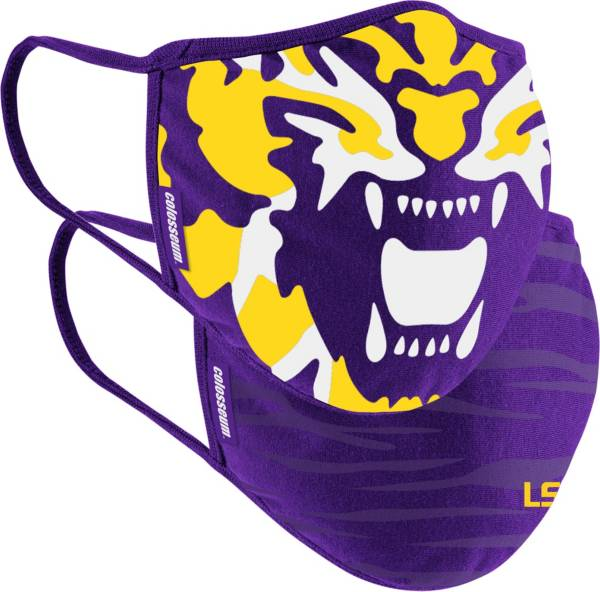 Colosseum Adult LSU Tigers 2-Pack Face Coverings product image