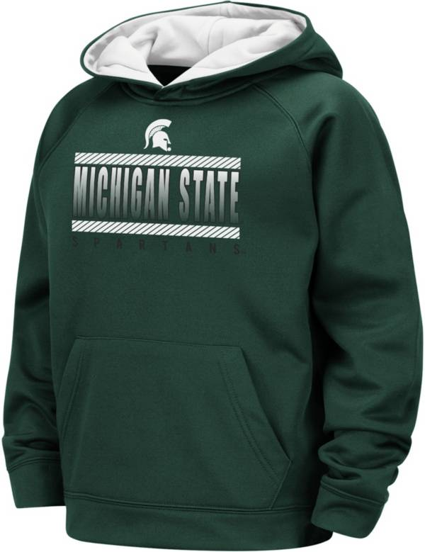 Colosseum Boys' Michigan State Spartans Green Raglan Pullover Hoodie product image