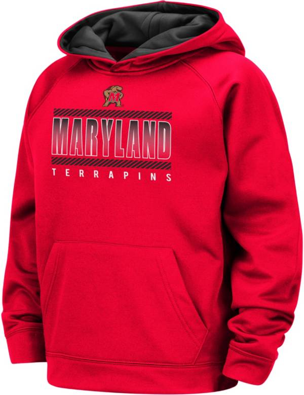 Colosseum Boys' Maryland Terrapins Red Raglan Pullover Hoodie product image