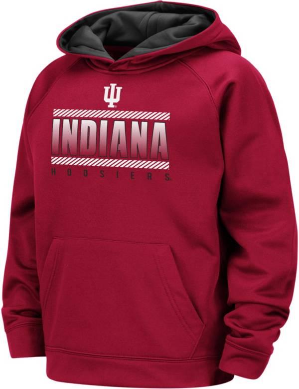 Colosseum Boys' Indiana Hoosiers Crimson Raglan Pullover Hoodie product image