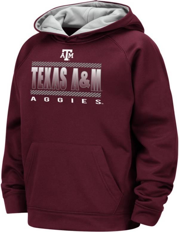 Colosseum Boys' Texas A&M Aggies Maroon Raglan Pullover Hoodie product image