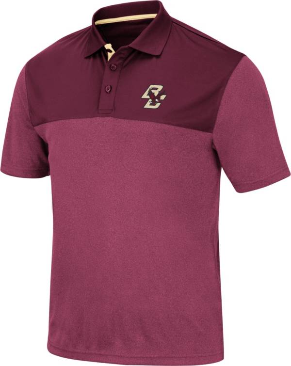 Colosseum Men's Boston College Eagles Maroon Links Polo product image