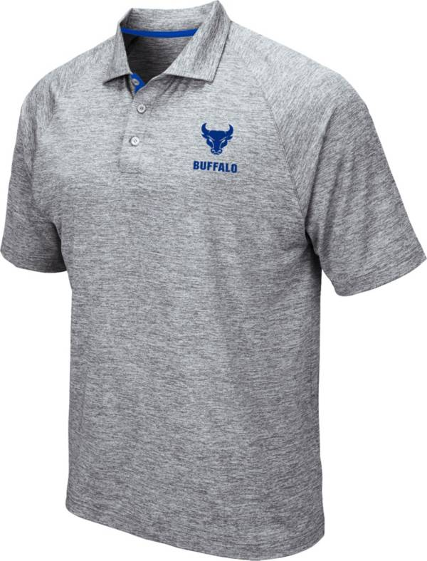 Colosseum Men's Buffalo Bulls Grey Wedge Polo product image