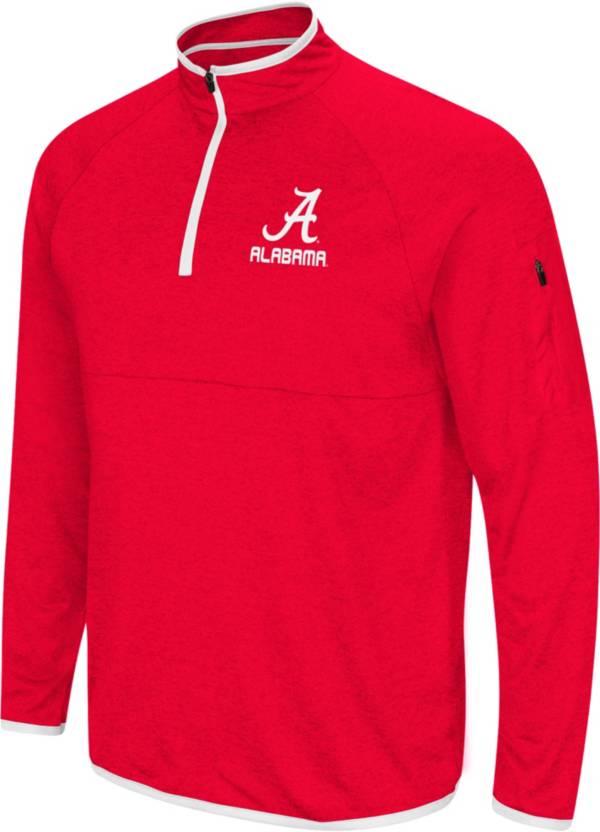 Colosseum Men's Alabama Crimson Tide Crimson Rival Quarter-Zip Shirt product image